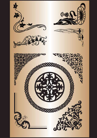 celtic pattern: a set of patterns of different styles to process corners