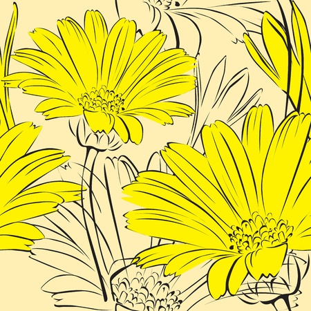 lichtgele bloemen naadloze achtergrond