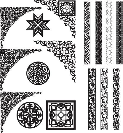 Arabisch decor van witte hoeken en verdelers