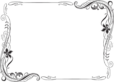 Retro Art Nouveau frame for decoration Vector