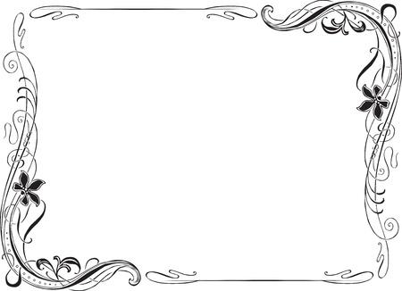 vignette: Retro Art Nouveau frame for decoration