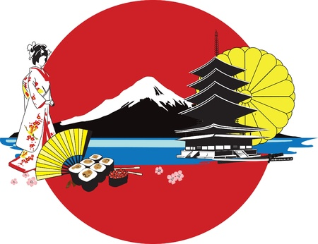 background with Japanese characters