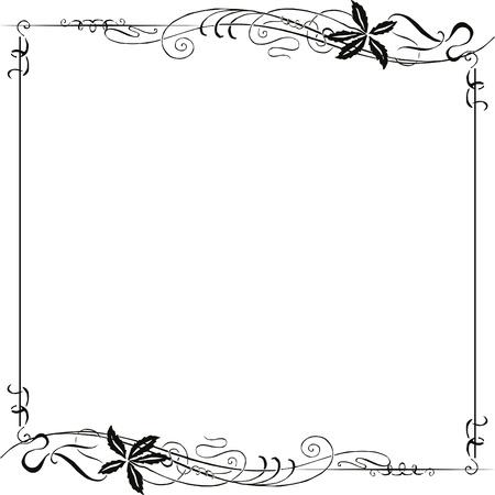 vignette: Decorating for the page with black Art Nouveau ornament Illustration