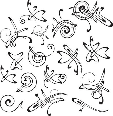 a set of ornate patterns for decoration