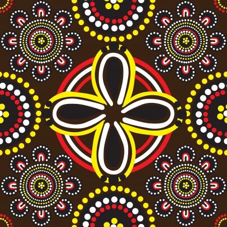 aborigines: seamless background with ornament of Australian Aborigines Illustration