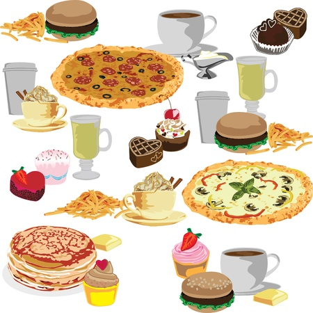 quick snack: seamless background with a delicious meal
