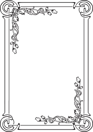 decorative frame for a page with flowers Stock Vector - 14594537