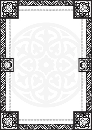 background with a border of the Arabian geometric patterns Stock Vector - 14780904