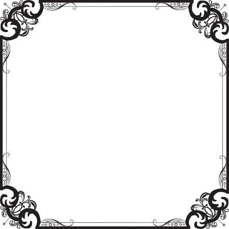 Frame in vintage stijl met filigraan patroon