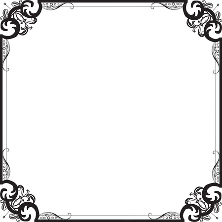 Frame in vintage style with filigree pattern