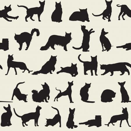 naadloze achtergrond met katten