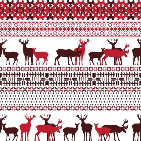 lapland: background with ornaments symbolizing the Christmas holidays