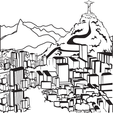corcovado: Sketch Brazilian silhouettes