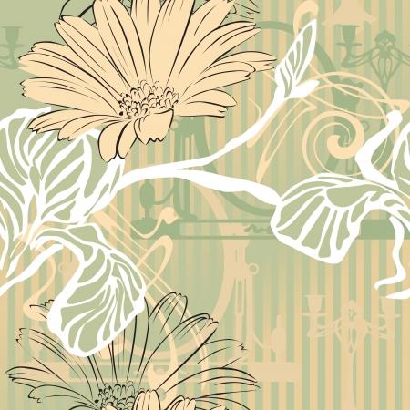 abstracte achtergrond met decoratieve elementen Performing Art Nouveau en raden beslissing