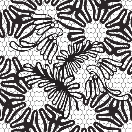gossamer: seamless black and white pattern with birds