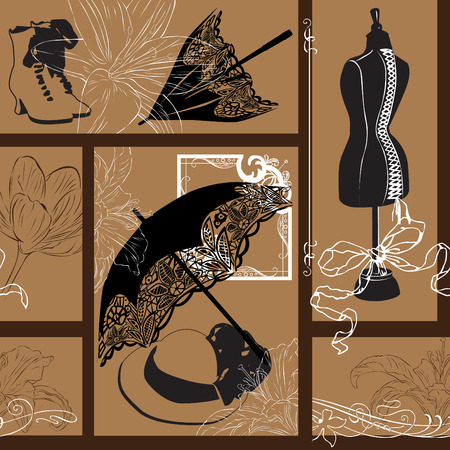 epoch: seamless background in art nouveau style