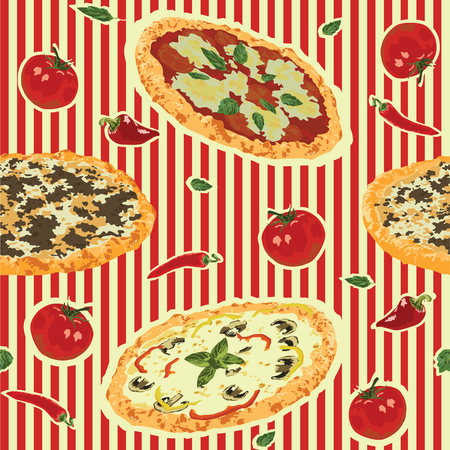 bolognese: seamless background with pizza