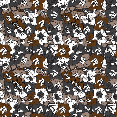 dark pattern with stylized flowers seamless