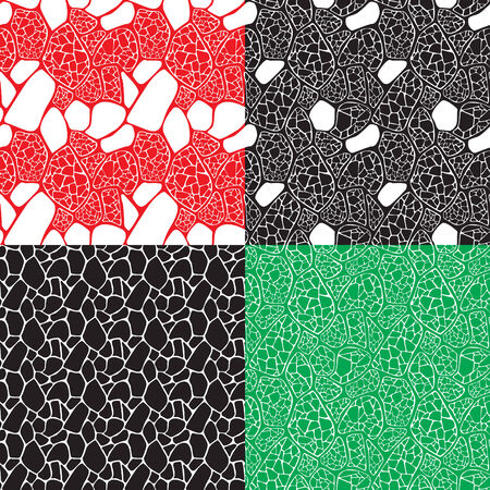 epithelium: four seamless abstract backgrounds Illustration