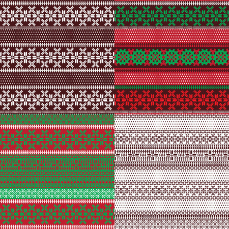 lapland: Four seamless background with patterns of Lapland