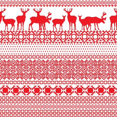 lapland: seamless patterns with the Lapland Illustration