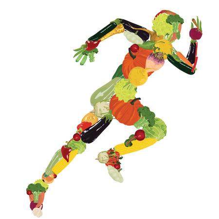 zdrowa żywnośc: Zdrowy styl życia Ilustracja