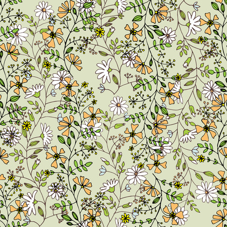 seamlessly pattern with flowers