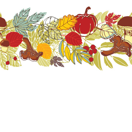 autumnal: Autumnal seamless background