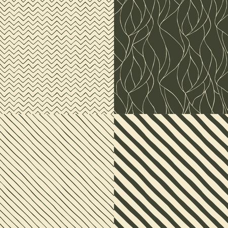 zig: Four seamless pattern hand drawn