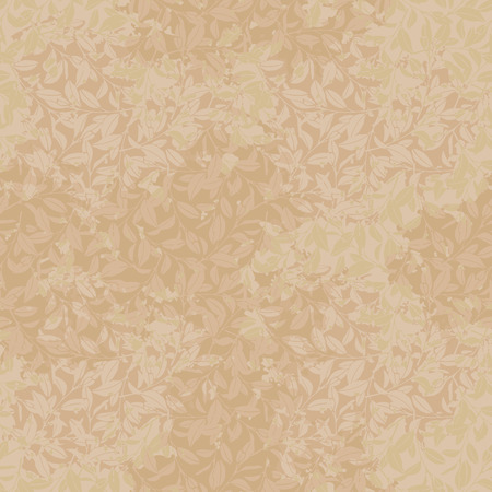 Seamless pattern in the form of old wallpaper with branches Ilustração