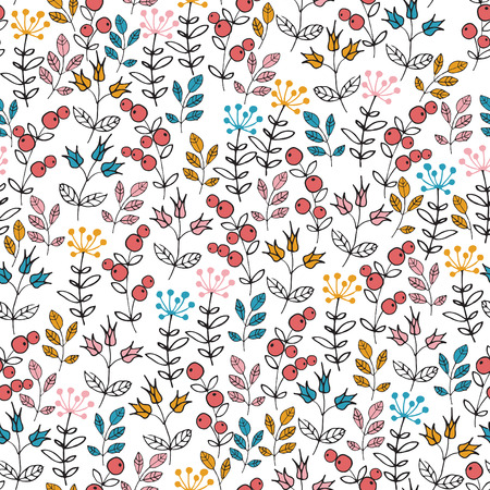indian summer: seamless floral pattern
