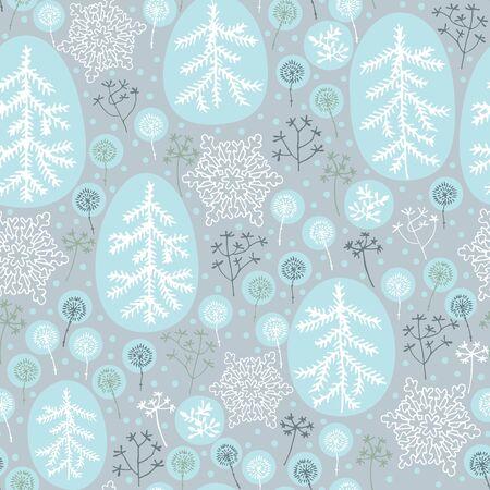 drifts: Winter seamless pattern Illustration