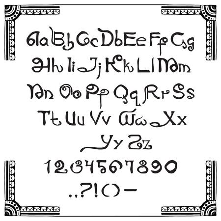 latin: Latin script in the Indian style Illustration