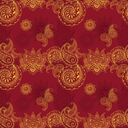 florid: seamless background with Indian patterns