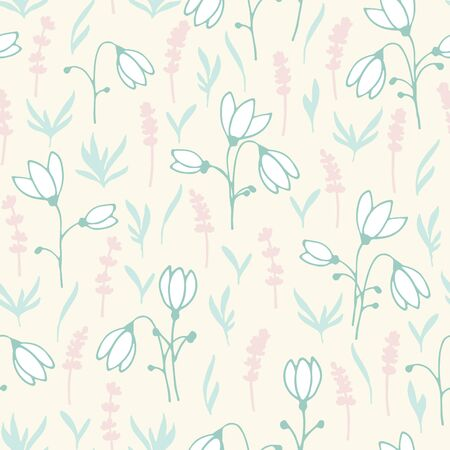 vernal: spring seamless pattern