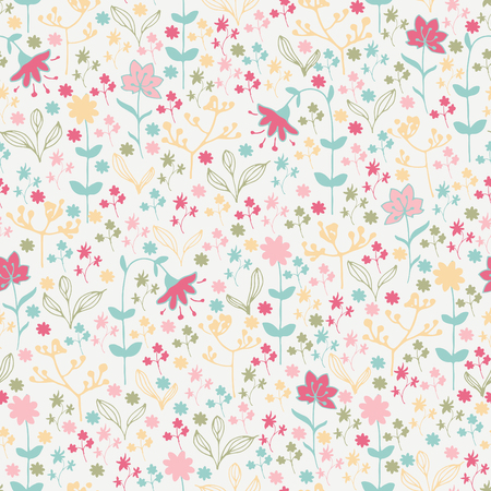 vernal: Seamless spring pattern with flowers