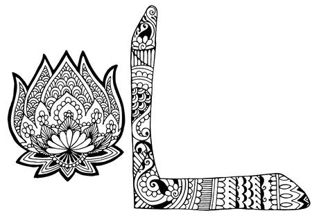 roman alphabet: decorated letter L