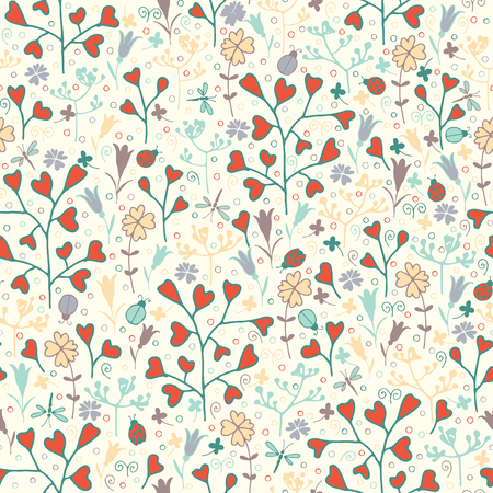 vernal: spring flower pattern