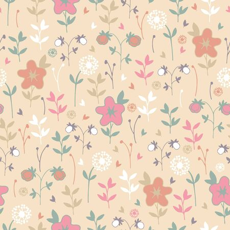 sprouting: spring floral pattern