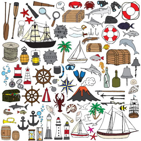 ming: Hand-painted miniatures symbolizing seafaring. Fish, boats, nautical accessories and more.