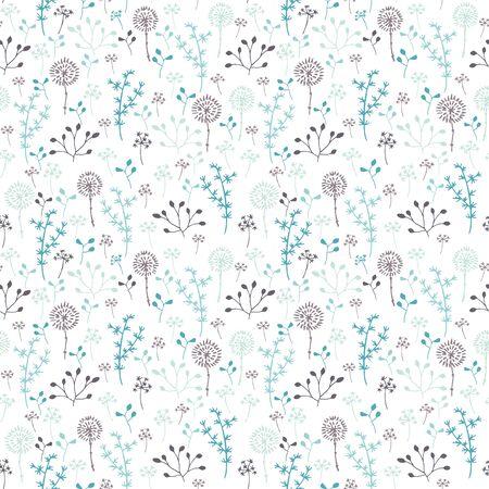 botanical gardens: Stylized winter nature. Seamless pattern. Illustration