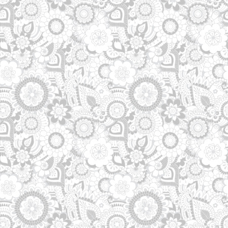 Oriental ornament in grayscale. Seamless pattern.