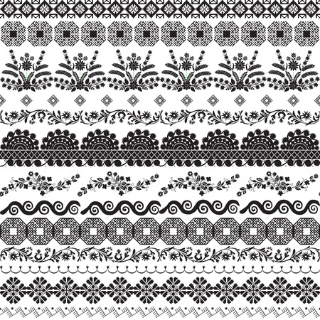 A set of vignettes and dividers. Slavic ornaments. Illustration