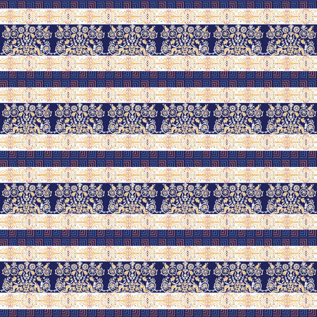 Seamless pattern with patterns in the style of Ancient Greek