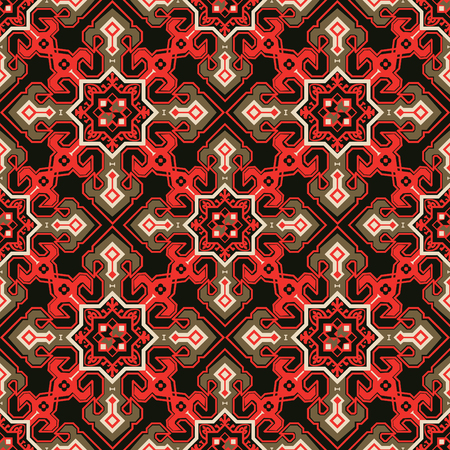 Seamless pattern in the style of Mediterranean tiles.