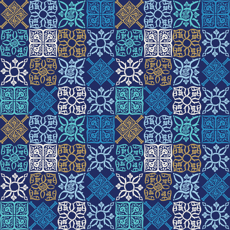 Seamless pattern in the form of a Mediterranean tile.