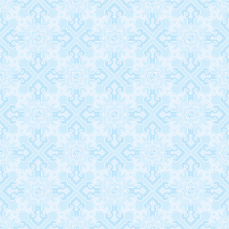 Pattern with an ornament in blue tones.