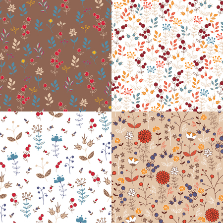 4 seamless pattern with currant Иллюстрация