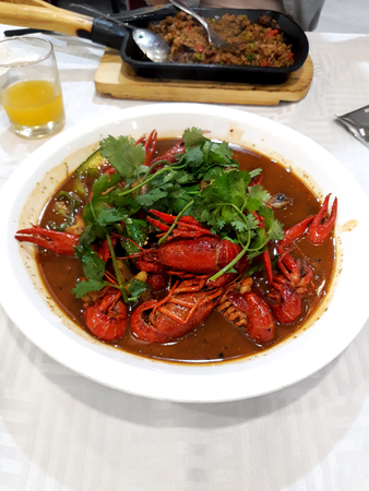 soup with crayfish