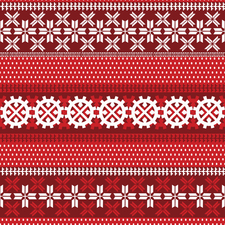 Nahtloses Muster mit Lappland-Motiven. Vektorgrafik